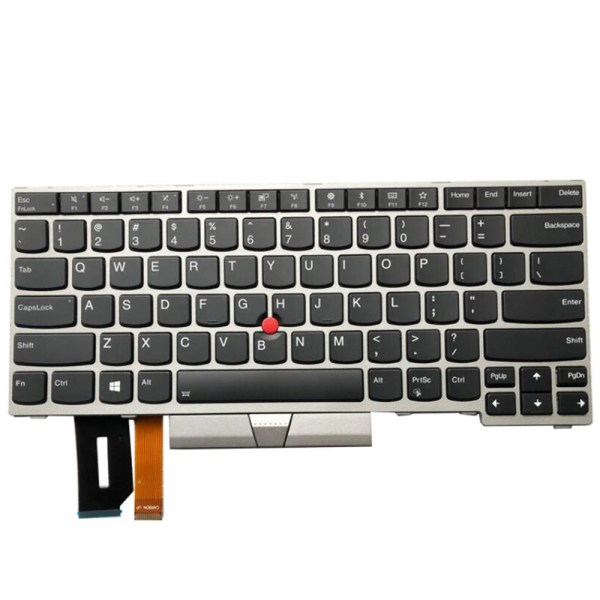 Replacement Keyboard for Lenovo ThinkPad E480 E485 L480 T480s Laptop Silver Frame 3