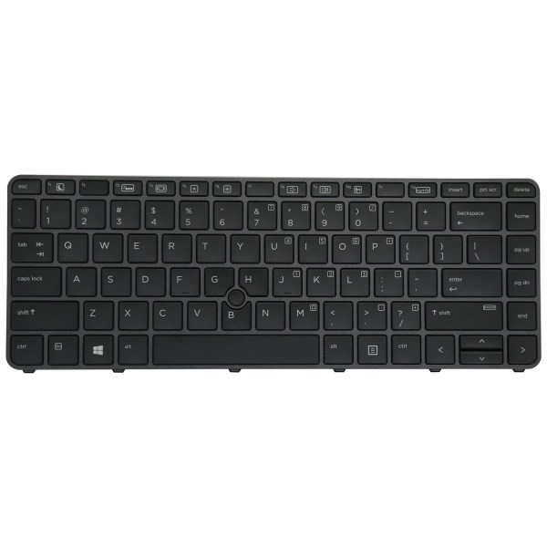 Replacement Keyboard for HP EliteBook 745 G3 / 745 G4 / 840 G3 / 840 G4 / 848 G3 Laptop with Pointer Black 1