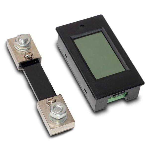 Digital Multimeter DC 6.5-100V 0-100A LCD Display Ammeter Voltmeter Multimeter Volt Watt Power Energy Meter with 100A 75mV Shunt 8