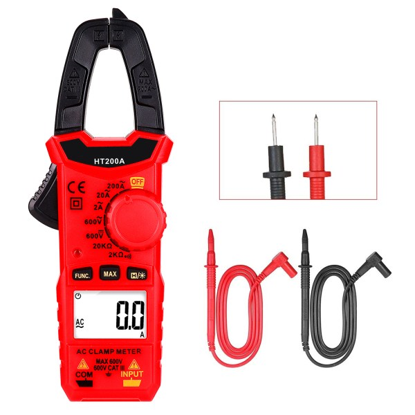 Digital Clamp Meter for AC/DC Voltage, AC Current, Resistance, Continuity, Diode Mini Multi Meter 3