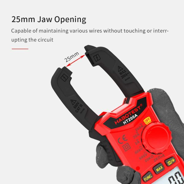 Digital Clamp Meter for AC/DC Voltage, AC Current, Resistance, Continuity, Diode Mini Multi Meter 6