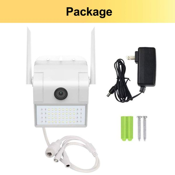 1080P Onvif WiFi Security Camera Motion Sensor Floodlight Outdoor Night Vision 6