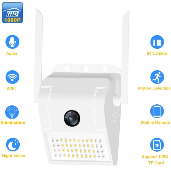1080P Onvif WiFi Security Camera Motion Sensor Floodlight Outdoor Night Vision 1