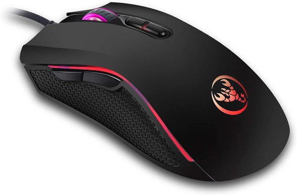HXSJ A869 Wired Gaming Mouse, 7 Programmable Buttons, 7 Bright Colors LED and Ergonomics Design 1