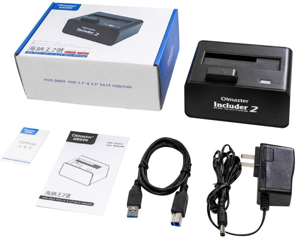 HDD Docking Station SATA III/II/I to USB 3.0 External Enclosure for 2.5 & 3.5 Inch SATA III Hard Drive 6