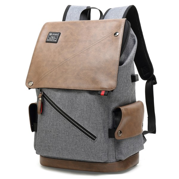 POSO Laptop Backpack 15.6 Inch Water-Repellent Computer Bag with USB Charging Port for Men Women 3