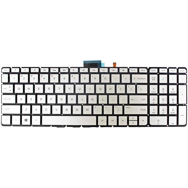 Replacement Keyboard for HP Envy m6-w m6-w000 m6-w100 x360 Series Laptop No Frame Silver 1