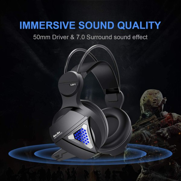 Gaming Headset New bee Stereo Over Ear Headphone Auction 2