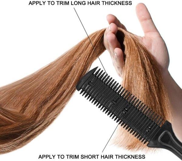 Hair Cutting Scissors Set 10 Pcs Hairdressing Scissors Kit, Thinning Shears, Hair Razor Comb, Clips, Cape, Hairdressing Scissors Kit 7