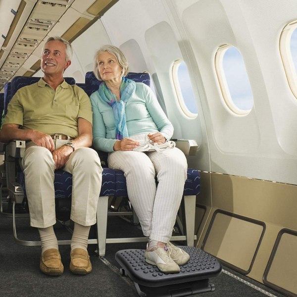 Adjustable Foot Rest Ergonomic Under Desk Footrest with 3 Height Position 30 Degree Tilt Angle Non-Skid Massage Surface Texture 9