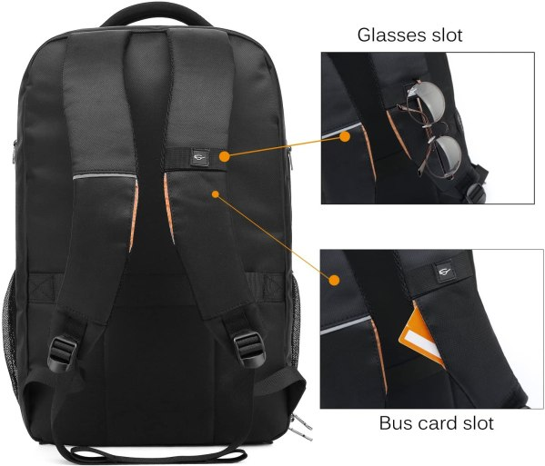 Laptop Backpack 17.3 Inch Computer Bag With USB Port Water-resistant Business Rucksack Hiking Knapsack Multi-compartment Men Backpack 5