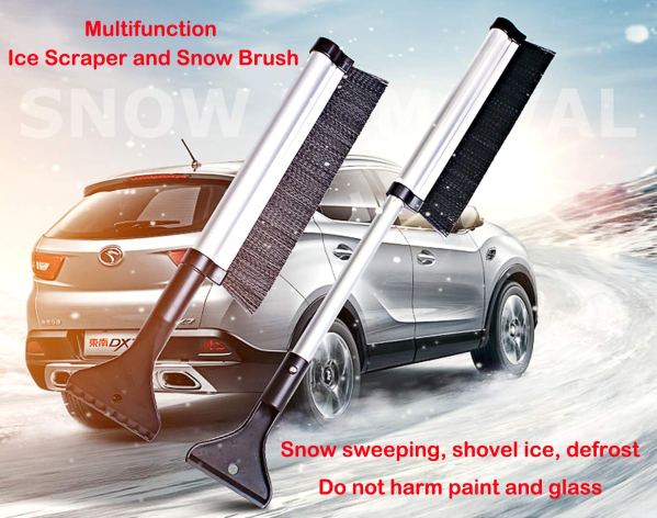 """Telescopic Snow Brush and Ice Scraper Extends and Retracts from 17"""" to 24"""" 2"""