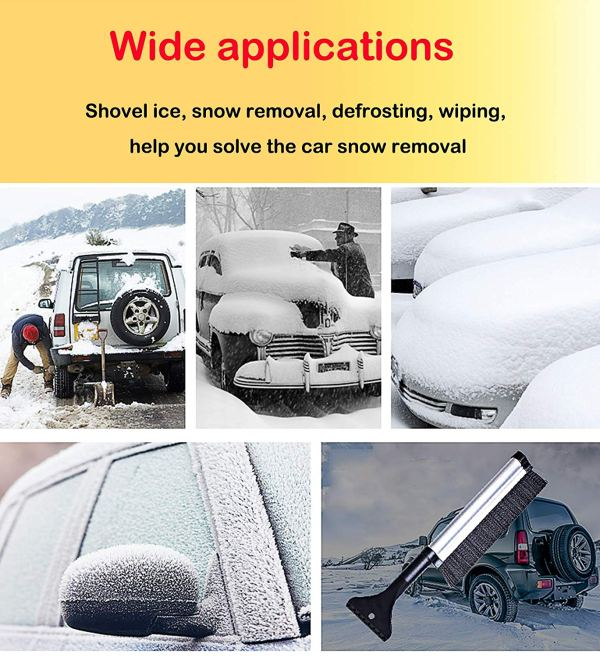 """Telescopic Snow Brush and Ice Scraper Extends and Retracts from 17"""" to 24"""" 5"""