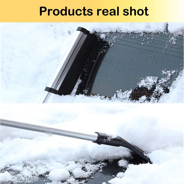 """Telescopic Snow Brush and Ice Scraper Extends and Retracts from 17"""" to 24"""" 6"""