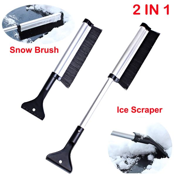 """Telescopic Snow Brush and Ice Scraper Extends and Retracts from 17"""" to 24"""" 1"""