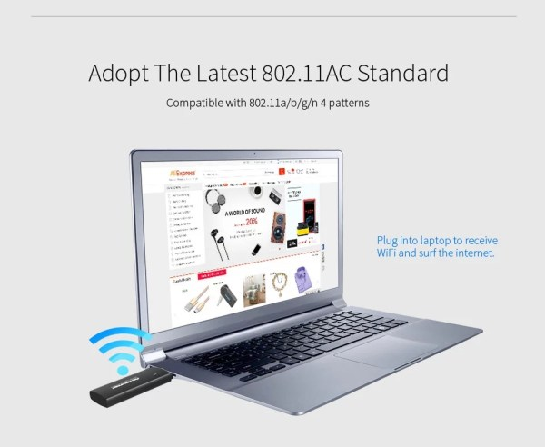 1200Mbps WiFi USB Adapter Dual band 2.4G/5.8GHz Wi fi Antenna Wifi Dongle Wireless Router wi-fi Network Card 4