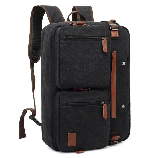 Convertible Backpack Briefcase Messenger Bag 17.3 Inch Laptop Tablet Carrying Case Shoulder Bag Waterproof 1