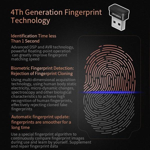 USB Fingerprint Reader for Windows 10 Hello Encryption Fingerprint Identification Scanner Sensor 4