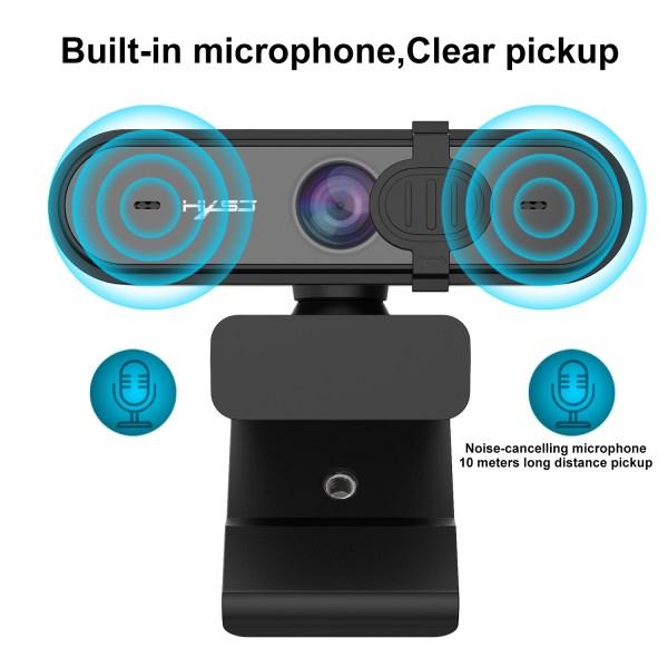 HD 1080P Webcam Autofocus Computer PC WebCam With Microphone Rotatable Cameras 2