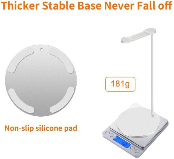 Aluminum Headphone Stand/Holder, Sturdy Gaming Headset Holder Desk Headset Hanger 4