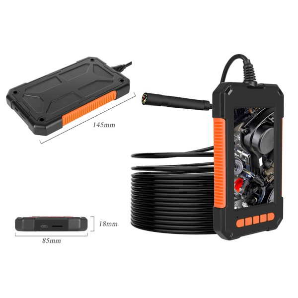 Industrial Endoscope 4.3 inch LCD Screen 1080p HD Borescope Inspection Camera with 32GB TF Card (16.4ft/5m) 9