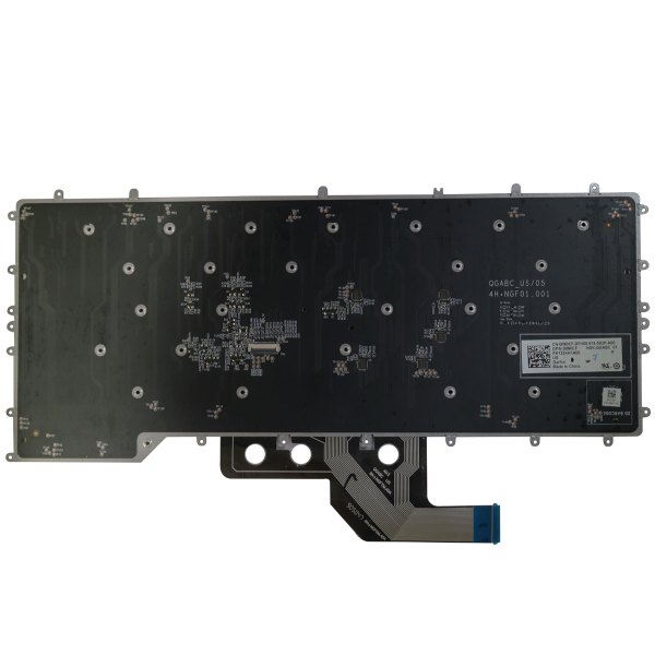 Replacement Keyboard for Dell Alienware M15 R2 2019 Year Laptop No Frame Backlight 3