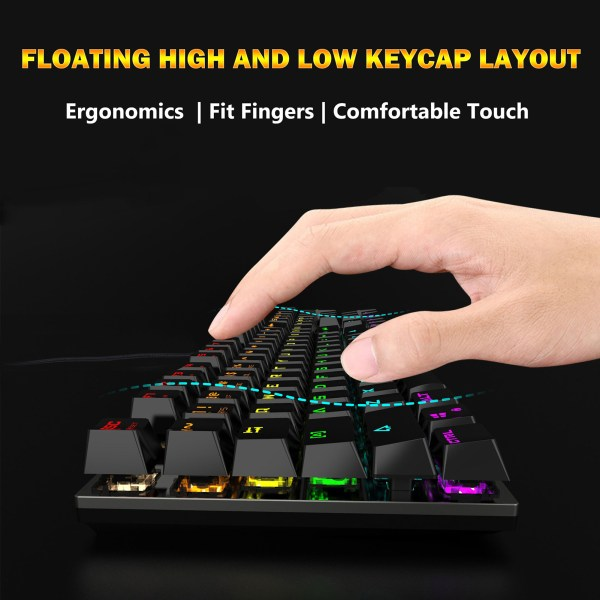 Mechanical Gaming Keyboard Blue Switch 104 Keys USB Wired RGB Backlit Keyboard N-Key Rollover For PC Laptop Computer 6