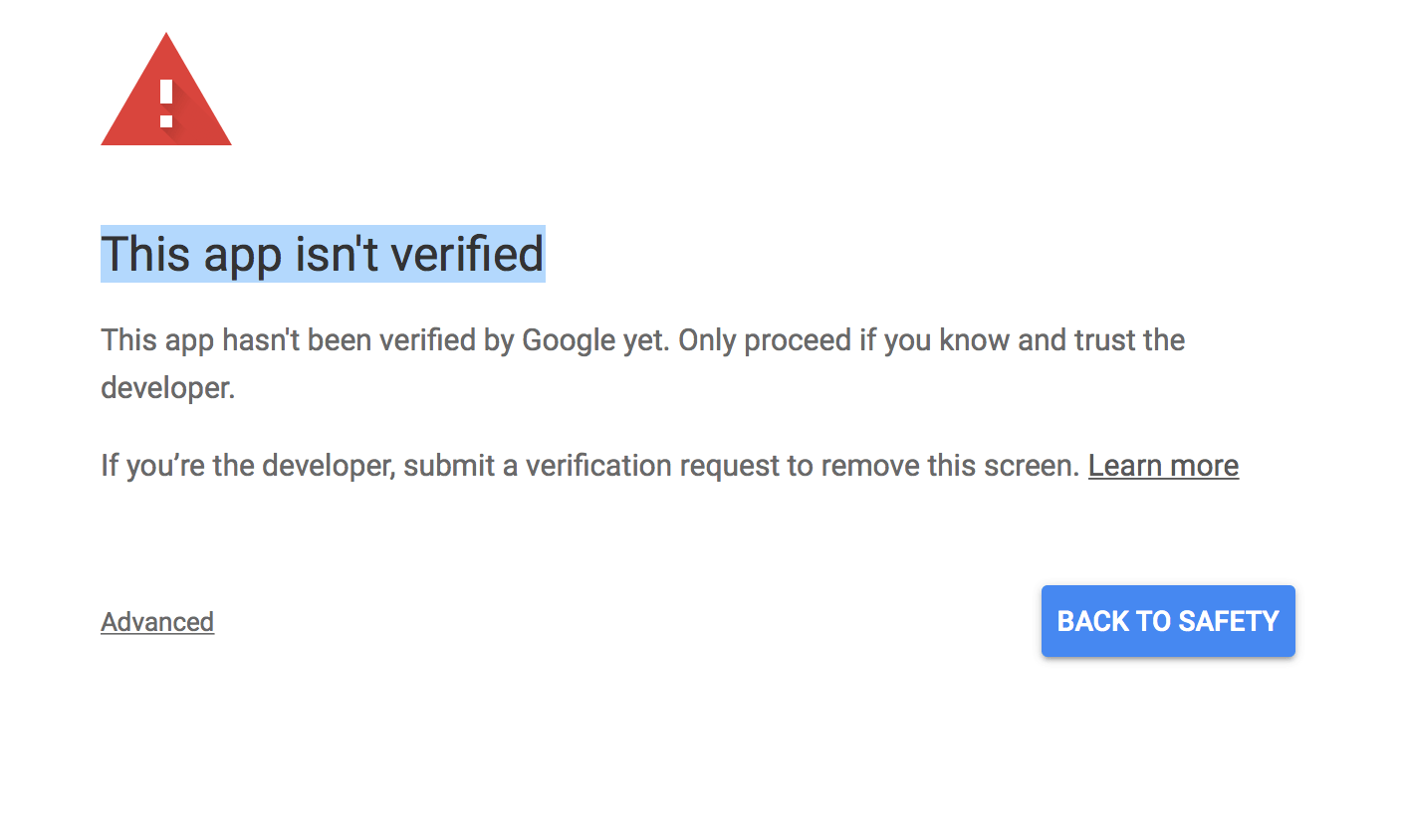 Getting A This App Isn T Verified Message From