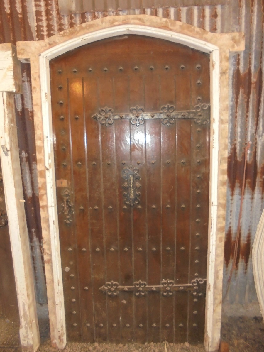 Decorative Studded Oak Front Door Authentic Reclamation