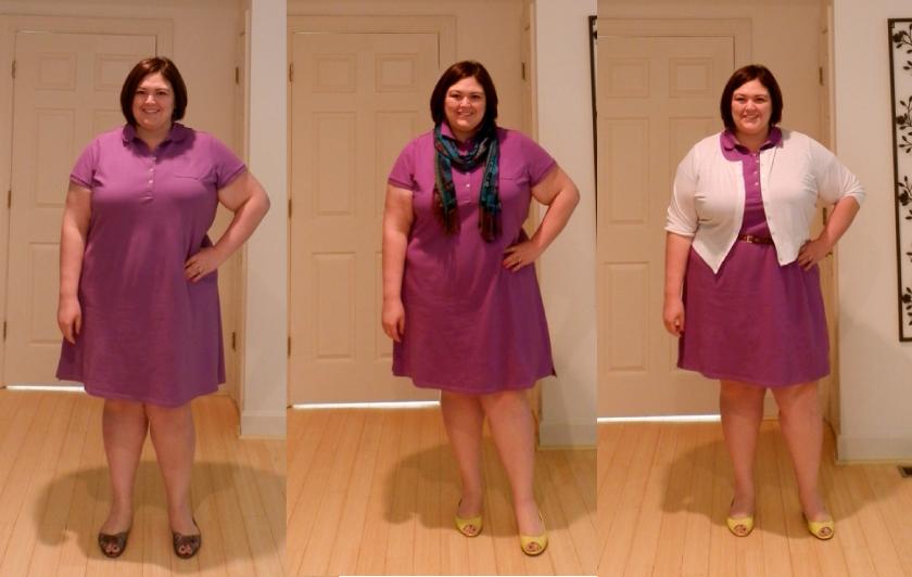Lands End Plus Size Polo Dress