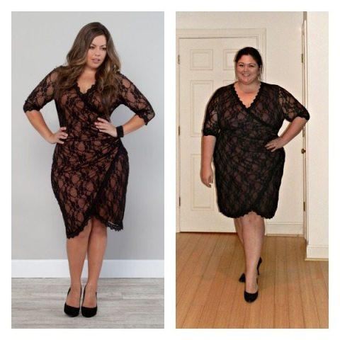 Gigi Lace Dress from Kiyonna (Plus Size)