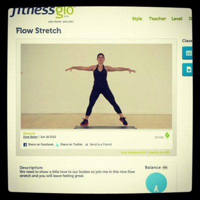 Flow Stretch with Ilyse Baker on FitnessGlo