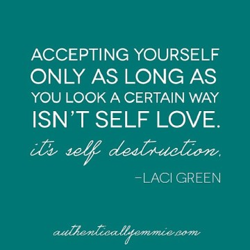 accept yourself as you are