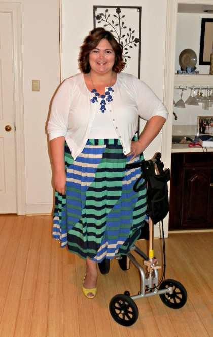 Emmie in ASOS Midi Skirt