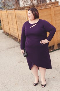 Anna Scholz Purple Slit Dress