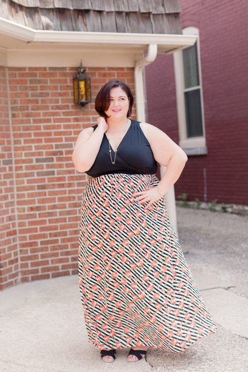Authentically Emmie in the Poppy & Bloom Maxi from Gwynnie Bee