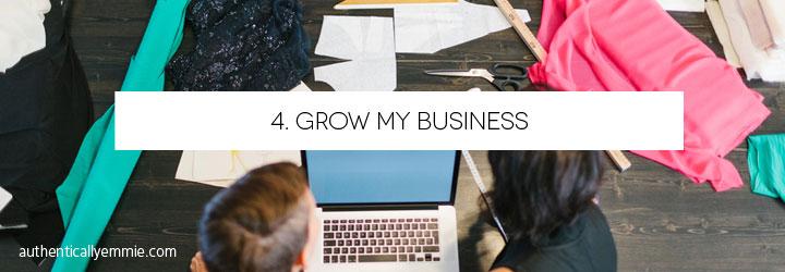 Confidence Bucket List: Grow My Business