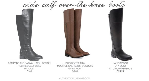 Wide Calf Over the Knee Boots