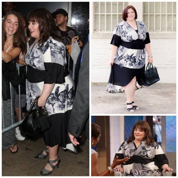 Melissa McCarthy in ABS by Allen Schwartz dress