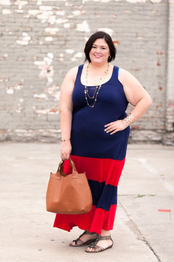 SWAK Bridget Maxi Dress on Plus Size Fashion Blogger Authentically Emmie