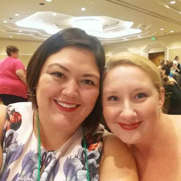 Emmie and Alyssa at Fitbloggin