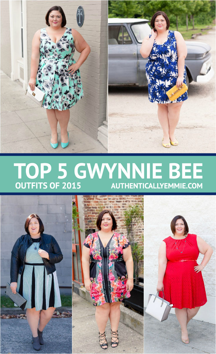Authentically Emmie's Top 5 Gwynnie Bee Outfits from 2015