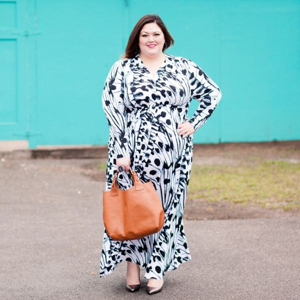 Authentically Emmie in a Melissa McCarthy Seven7 Maxi Dress
