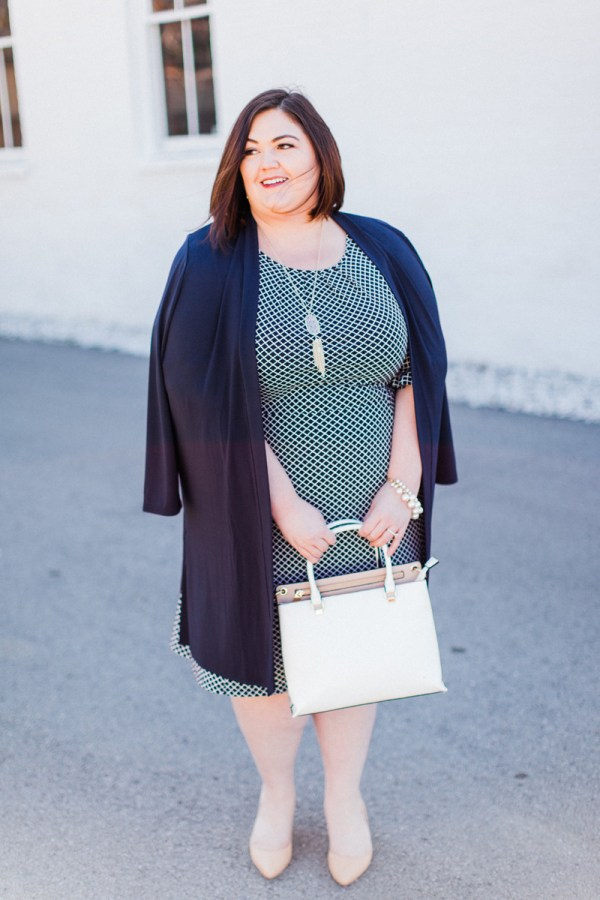 Talbots Plus Size Review - Jersey Knit on Authentically Emmie