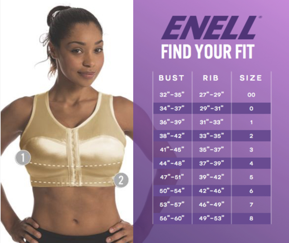 Enell bras size chart
