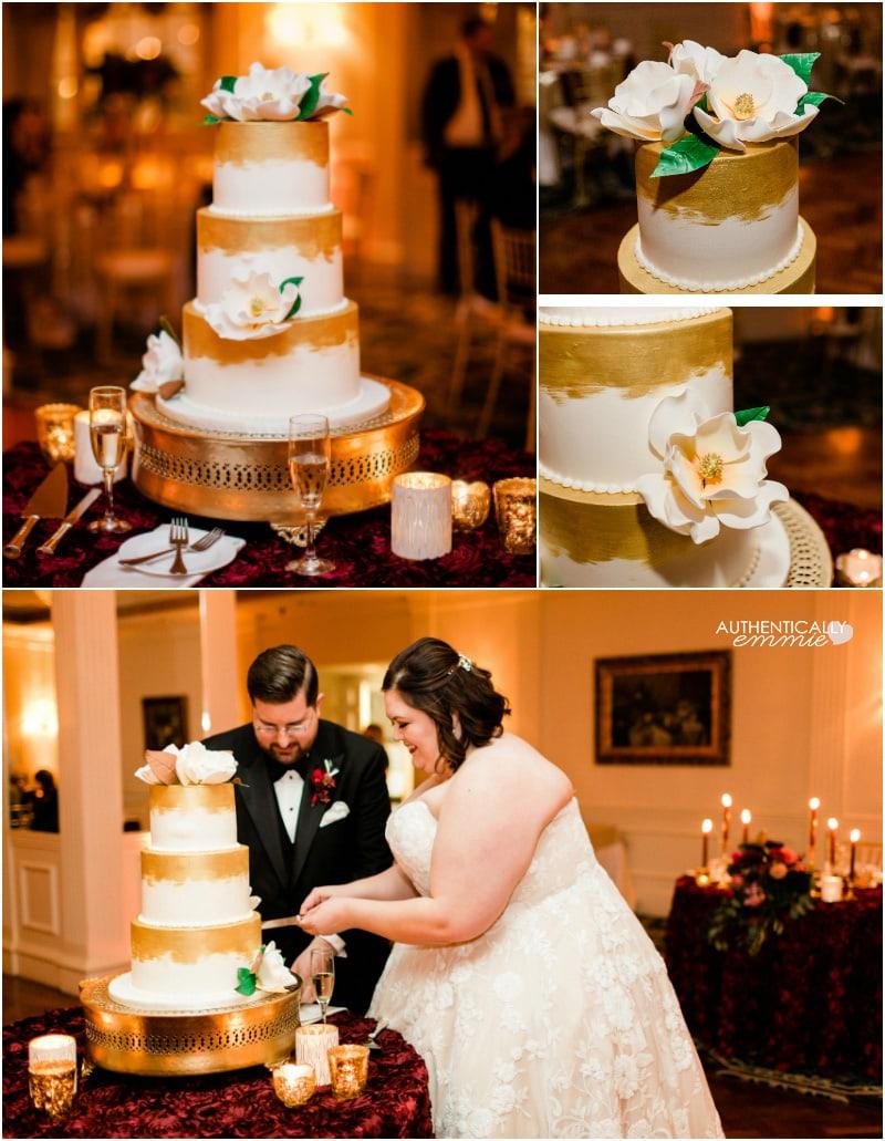 Magnolia wedding cake by Louisvillicious