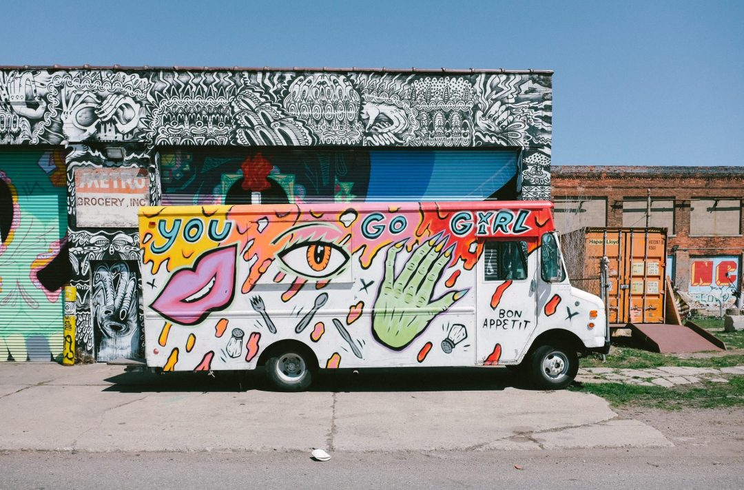 Street art in Detroit, Michigan