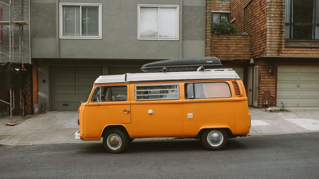 orange VW van