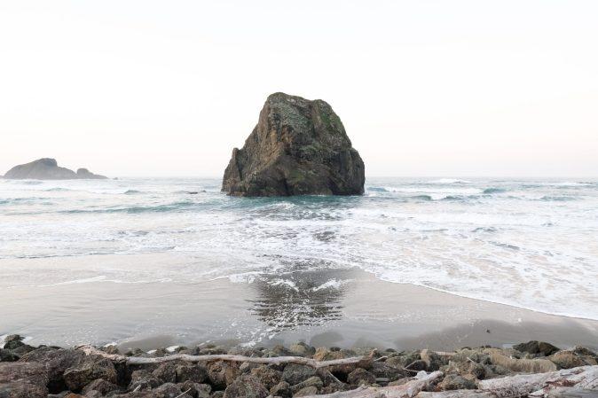 Rugged coastline along the Oregon Coast