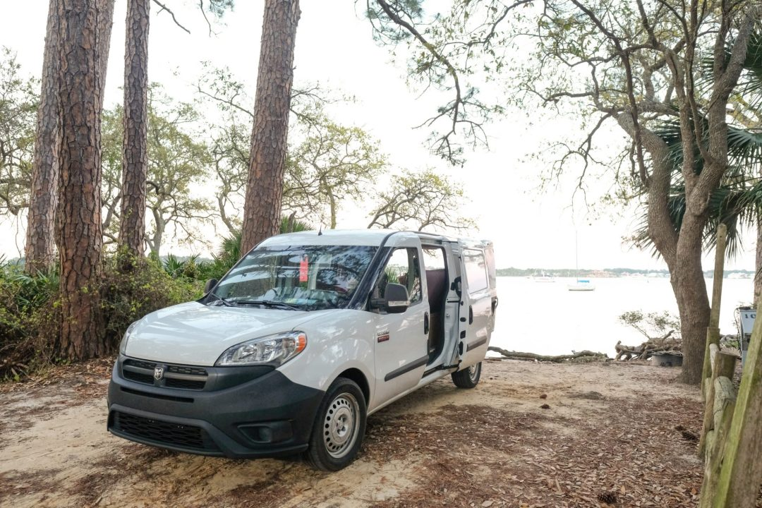 Van down by the water in Florida